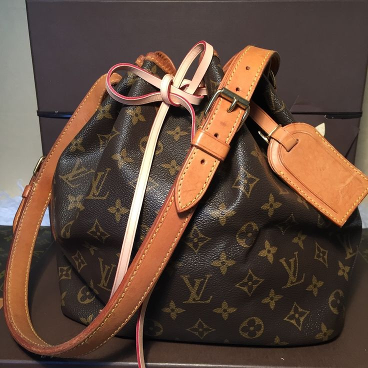 Vintage Authentic LV Monogram Petit Noe + new string + LV Luggage Tag - The Luxe Boutique
