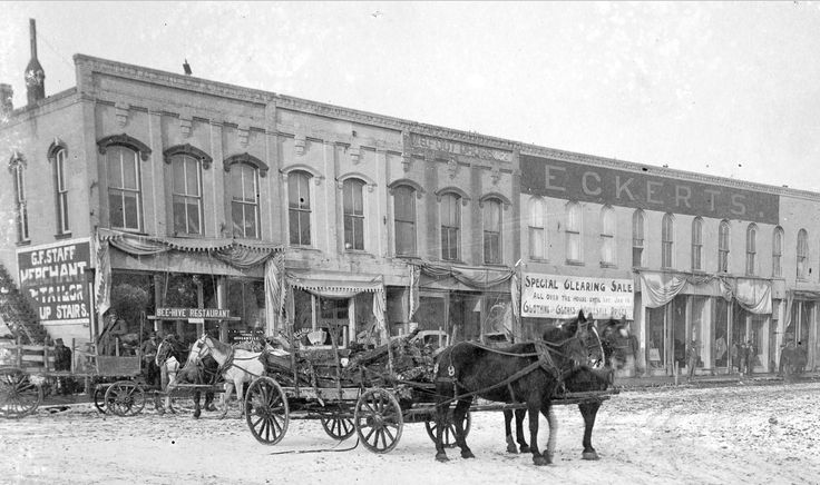 Looking north from the Washington & Elson intersection in Kirksville, Missouri, January 16, 1897.
