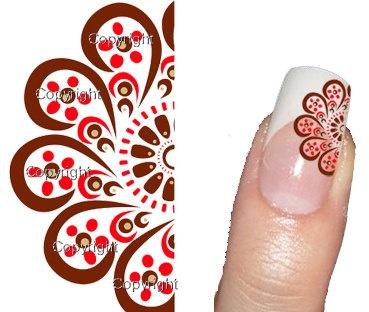 NEW 40 Nail Art Flower 073  Decal sticker Tattoo Nail by Tarlidada, $4.00