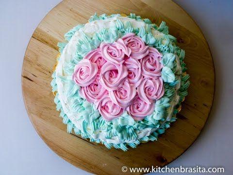 Come decorare una torta con la panna: rose e tecnica dell' intreccio di ...