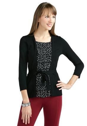 Cato Fashions Layered Look Ruffle Cardigan Top #CatoFashions