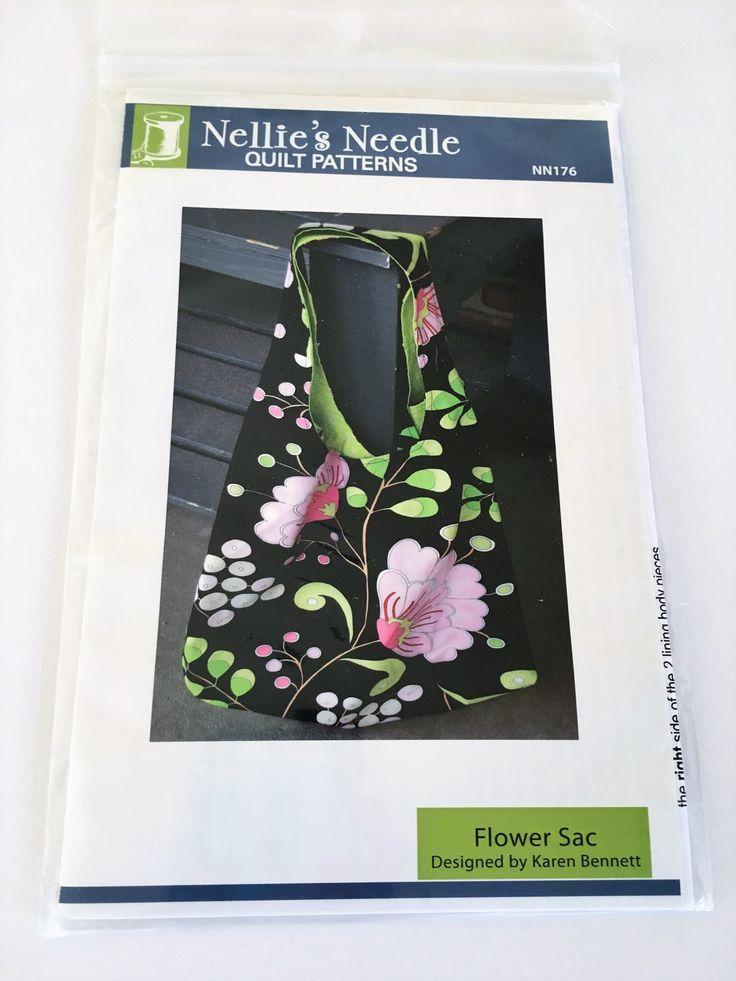 Flower Sac  Pattern by Karen Bennett Grocery bag, large handbag  #NN176 by Cindysfabricboutique on Etsy
