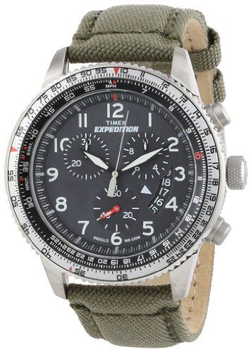 "Timex Men's T49823DH ""Expedition Military"" Stainless Steel Watch with Nylon Band Timex   $119.96"