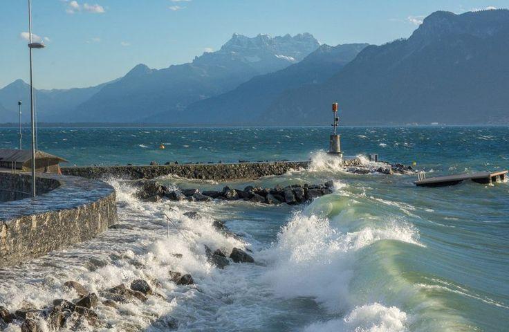 Coup de vent entre Vevey et la Tour-de-Peilz, lundi après-midi Christine Talos