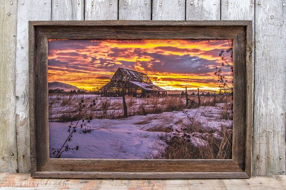 Barn Wood Framed Canvas Printed by WesleyAstonCreations on Etsy