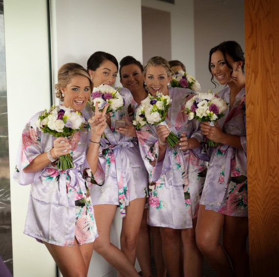 satin robes for bridal party cheap bridesmaid gifts by ForBride