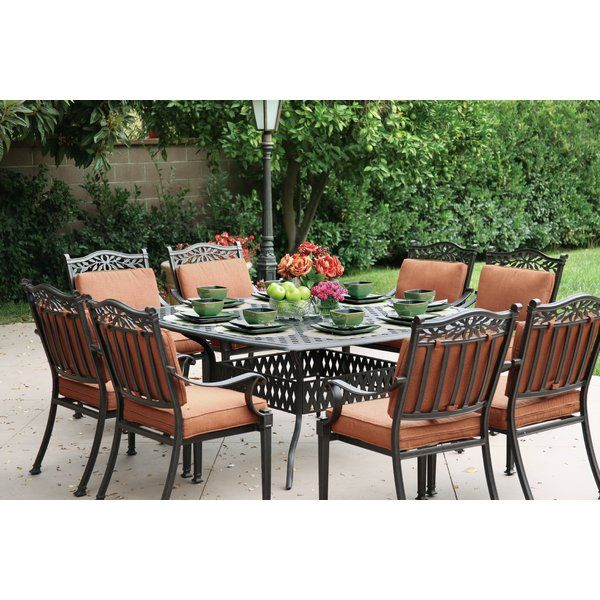 fairmont 9 piece dining set with cushions patios pinterest rh pinterest com
