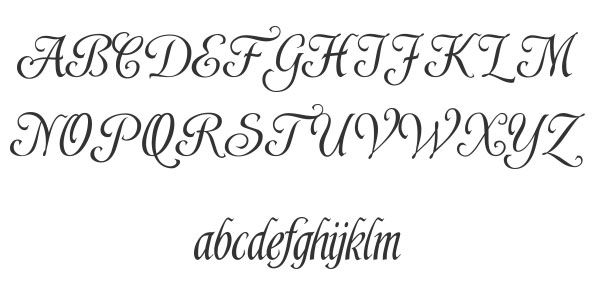 Calligraphy font alphabet shardee best