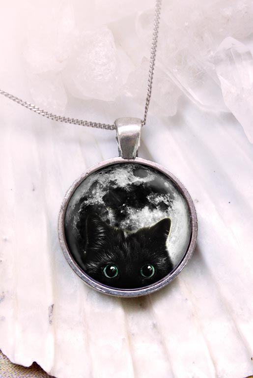 Cat on the moon – Halsband Katt | Foxboheme
