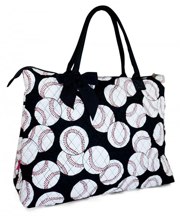 Quilted Baseball X-Large Tote Bag - 22-Inch - CG11ZC6WUFR  3f16cac7e4