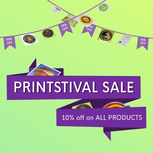Enjoy our Printstival Sale now! Get 10% OFF on all products for orders over $260 only! Valid until April 30, 2017. #promo #sale #advertising #marketing #stickers #decals #businesscards #postcards #labels #printing #Auckland #NewZealand