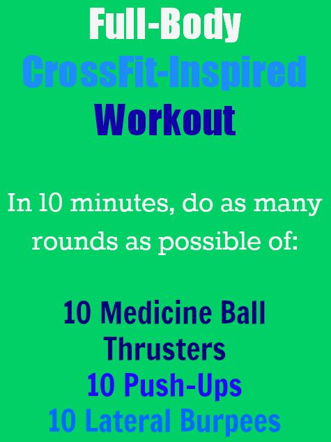 """To give you a taste of what CrossFit is all about, here's a WOD (""""Workout of the Day"""") that will provide you with a full body workout in just 10 minutes. 