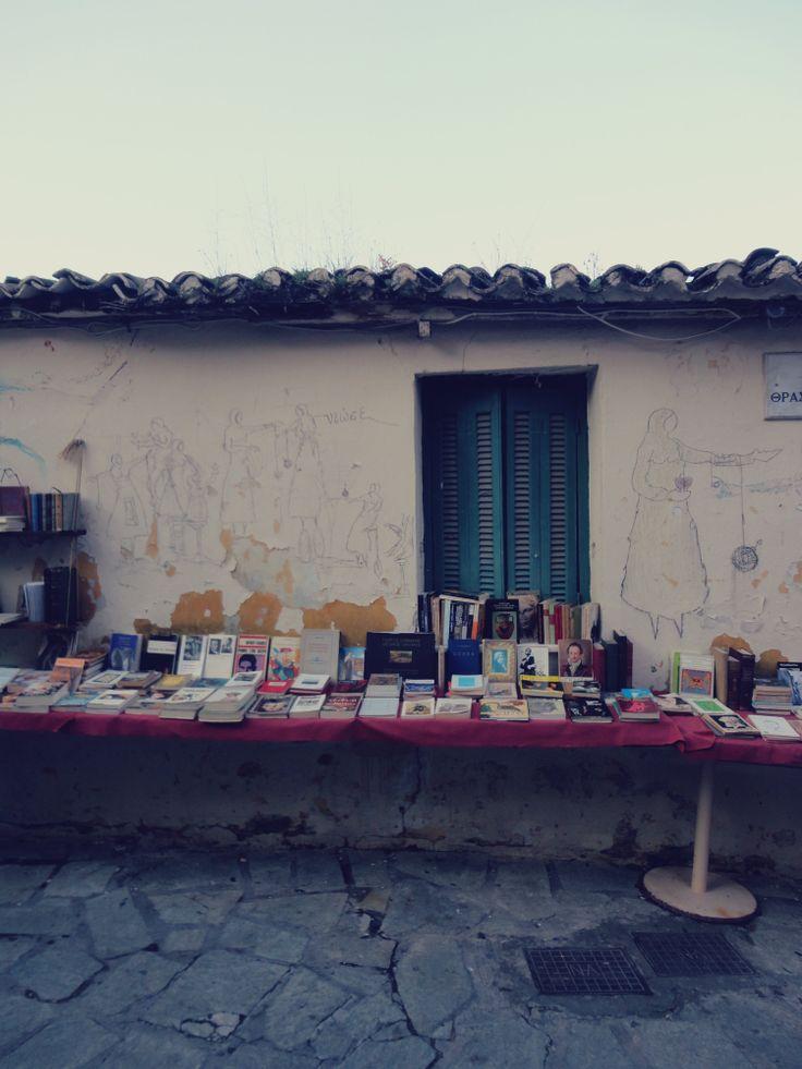 I love Athens <3 outside bookstore <3