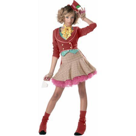 the mad hatter girls teen halloween costume girls size medium rosybrown - Mad Hatter Halloween Costume For Kids