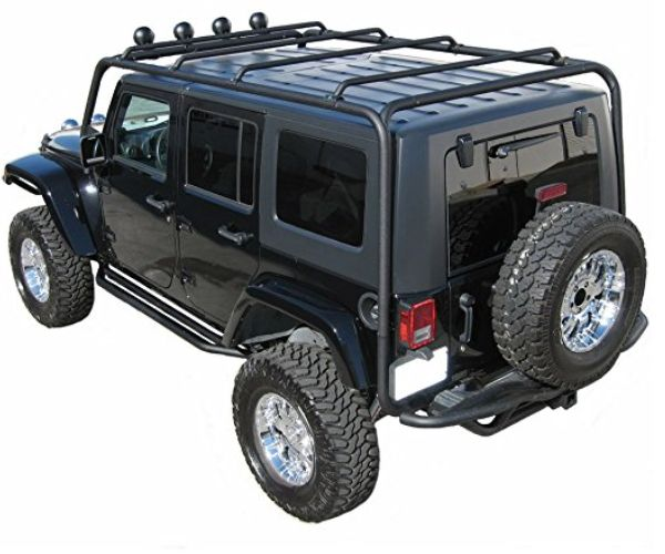 J020 Trail Fx Black Roof Rack Jeep Wrangler 4 Door Roof Rack 4