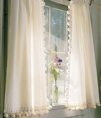 Tier Curtains Classic Ball Fringe Perma Press