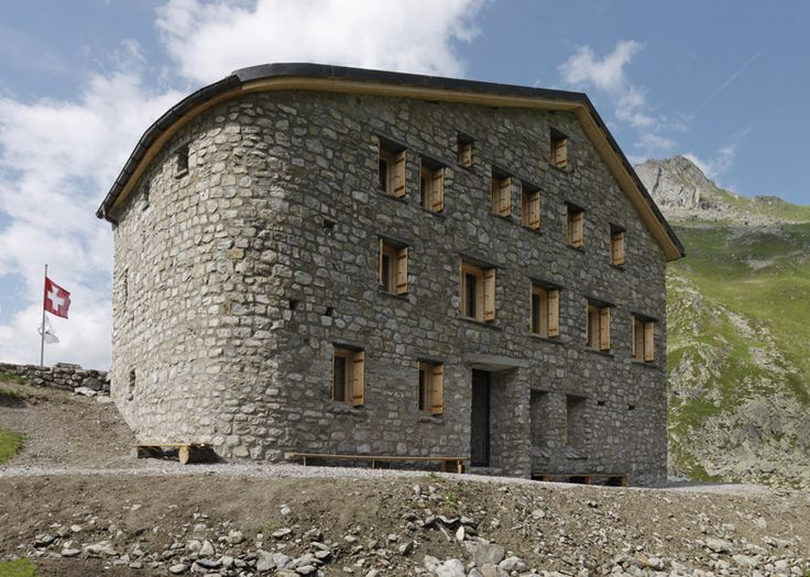 Berghuette Terri by Swiss architect Gion A Caminada