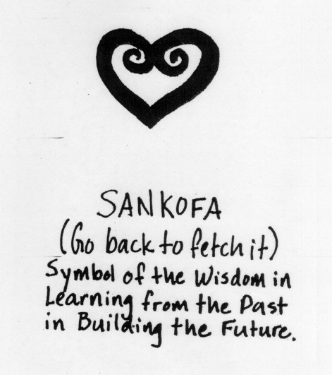 Sankofa (go back to fetch it) symbol of the Wisdom in Learning from the Past in Building the Future. #empowering #women #lifestyle #coach