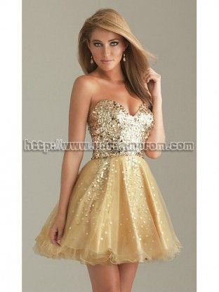 Modern A-line Sweetheart Organze Homecoming Dresses ORHD-30078