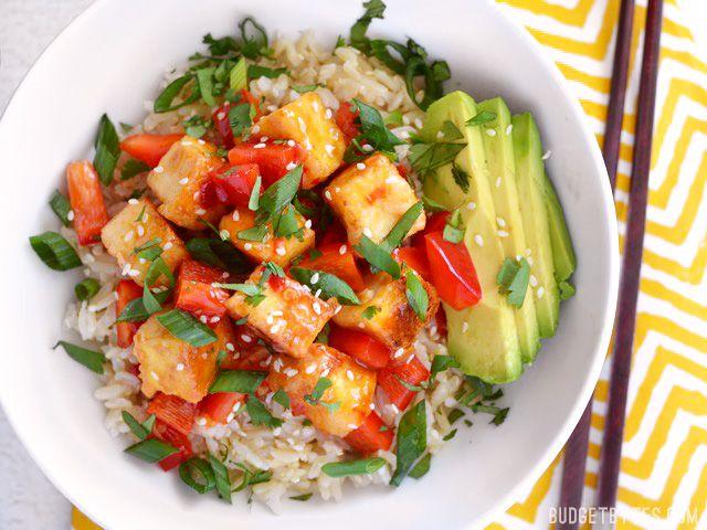 Sweet Chili Tofu Bowls - Budget Bytes