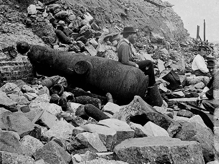 Site of the Night Attack at Fort Sumter, Charleston, South Carolina on September 8, 1863