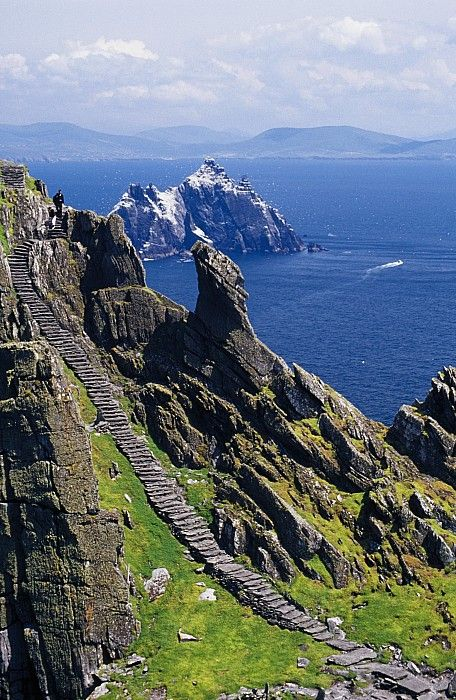 Stone Stairway, Skellig Michael, Skellig Islands, County Kerry, Ireland.I want to go see this place one day. Please check out my website Thanks.  www.photopix.co.nz