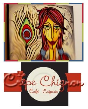 Le Crêpe Chignon - Café Crêperie vous fait découvrir des artistes de la région! Pourquoi ne pas rendre l'utile à l'agréable!