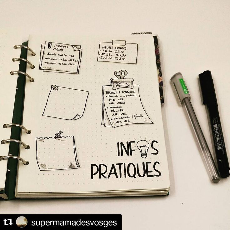 """55 mentions J'aime, 1 commentaires - Bullet Journal Creatif (@bullet.journal.creatif) sur Instagram: """"#Repost @supermamadesvosges (@get_repost) ・・・  Practical information : To find easily…"""""""