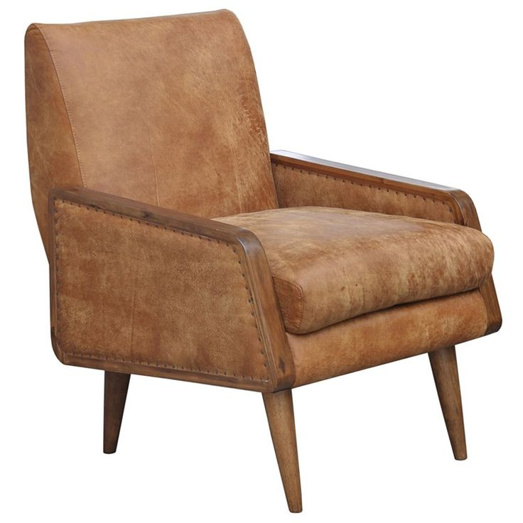 Distressed leather and rustic Taylor Chair, Barker and Stonehouse