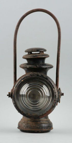 Dietz Railroad Lantern With Clear Glass Lens.