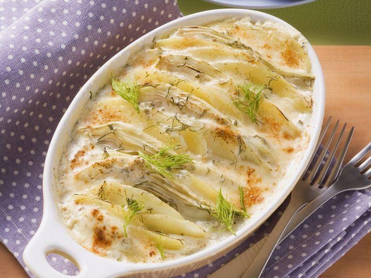 Kartoffel-Fenchel-Auflauf - smarter - Kalorien: 511 Kcal - Zeit: 20 Min. | eatsmarter.de