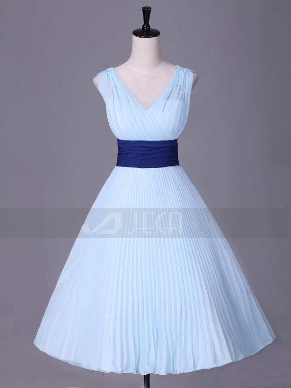 1950s Inspired Tea Length Bridesmaid Dress Cocktails by Jecadress, $149.95