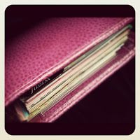 jagged little thoughts: Inside My Filofax Finsbury