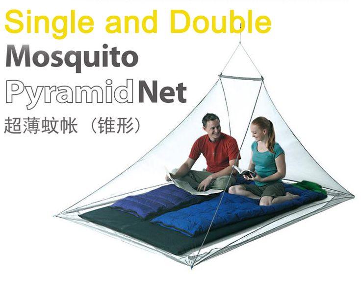 Одноместный двухместный открытый москитная сетка камп трэвел-бич щит пирамида палатка сетки сад муха приюты комплект выживания