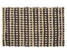 Vanya Woven Stripe Jute Rug 60 x 90cm, Natural and Black