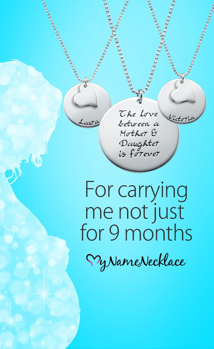 This mother daughter necklaces set symbolizes the sweet, unique bond a mother has with her daughters. Any mother would be more than happy to wear a necklace that will remind her of her daughters. Engrave something special on these necklaces.