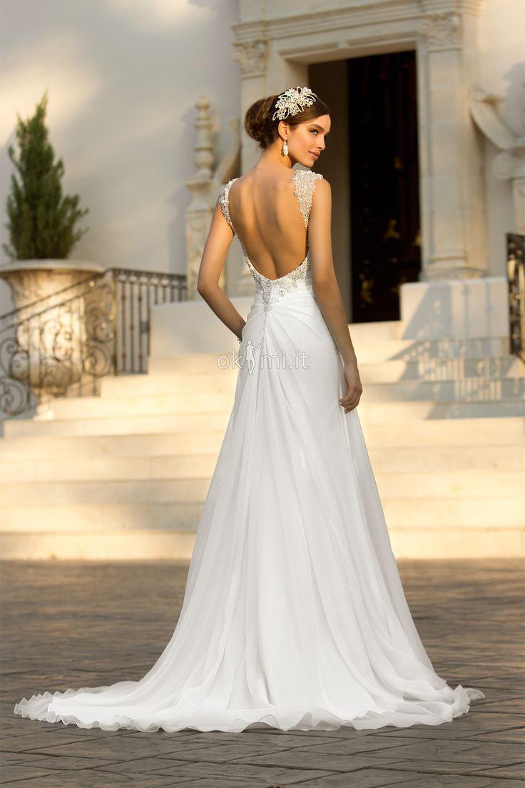 Risultati immagini per abito sposa pizzo scollo schiena