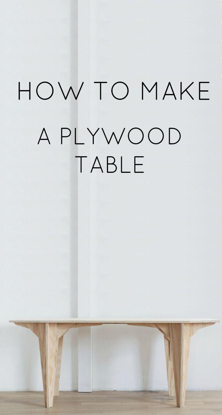 Diy plywood table for Table cuisine 75 x 75