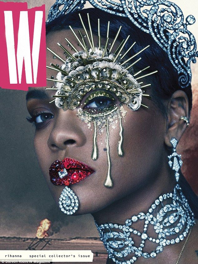 Superstar: Rihanna covers the September issue of W Magazine, out this month...