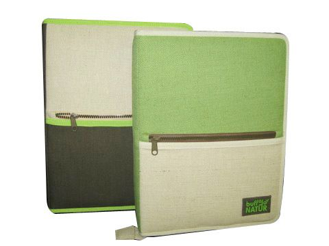 jute file folder with zip pocket