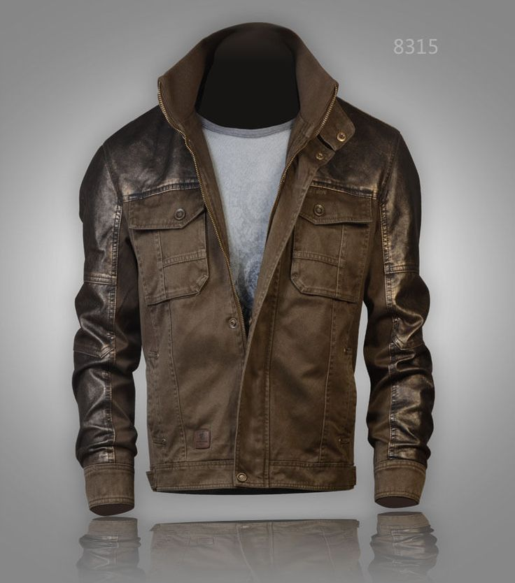 Military style Harrington Bronze Faux Leather Jacket