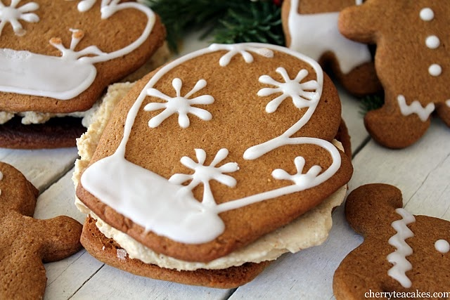 gingerbread ice cream sandwich | For the Holidays | Pinterest