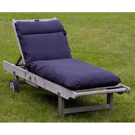 Outdoor Navy Blue Chaise Lounge Cushion