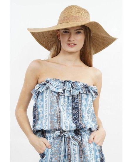 Cartwheel Hat with Ribbon - MINEOLA Online Shopping Fashion Indonesia