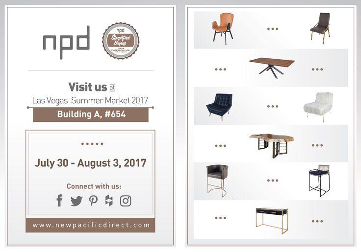 Visit us this Summer in the annual Las Vegas Furniture Market - NPD Furniture