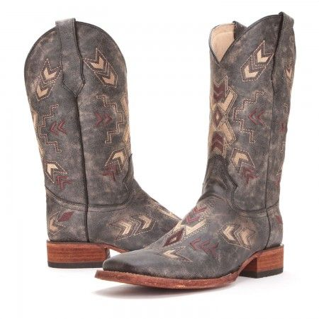 PFIs BootDaddy Collection with Circle G Womens Arrowhead Wide Square Toe Cowboy Boots