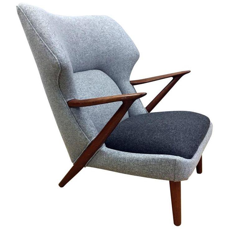 Fabulous Lounge Chair by Kurt Olsen for Slagelse Mobelvaerk