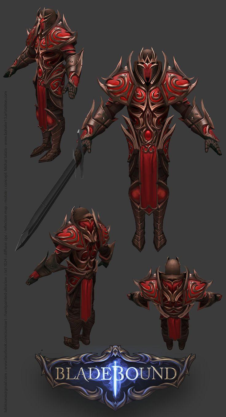 Bladebound Handpainted Fire Armor www.facebook.com/zunioart