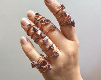 Alternative Engagement Ring // Amethyst and Copper