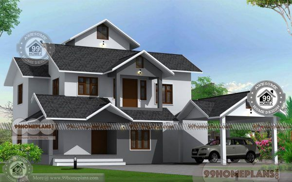 2 Floor House With Simple Kerala Style Traditional Model Home Drawings House Layout Plans 2bhk House Plan House Plans With Pictures
